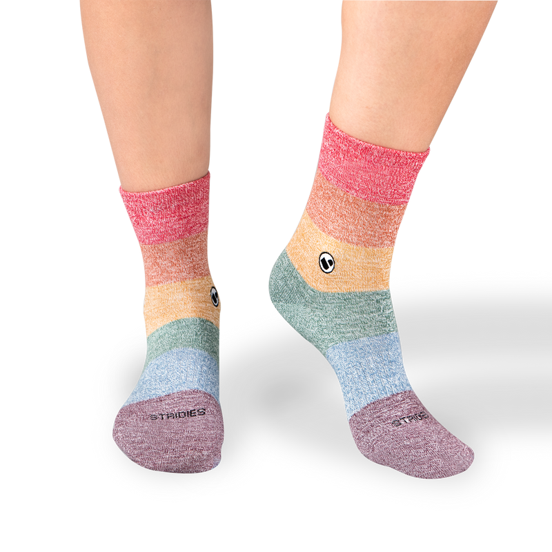 Womens LGBT Twist Calf Sock