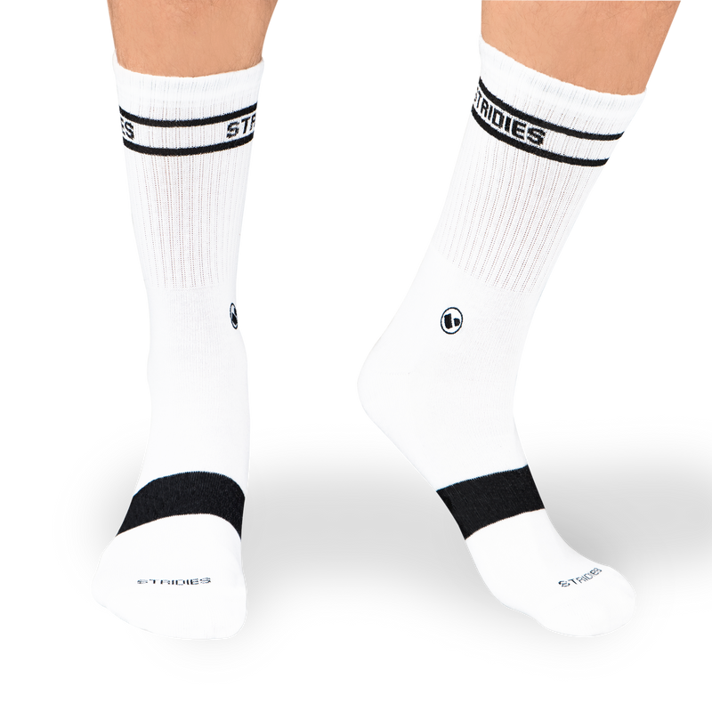 Mens Mixed Soft Cotton Crew Sock 4 Multipack Black/White