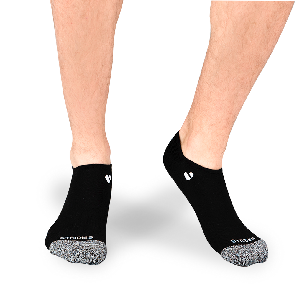 Mens Black No Show Socks