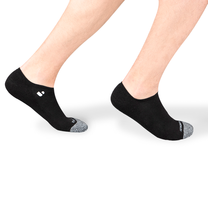 Mens Black No Show Socks 4 Multipack