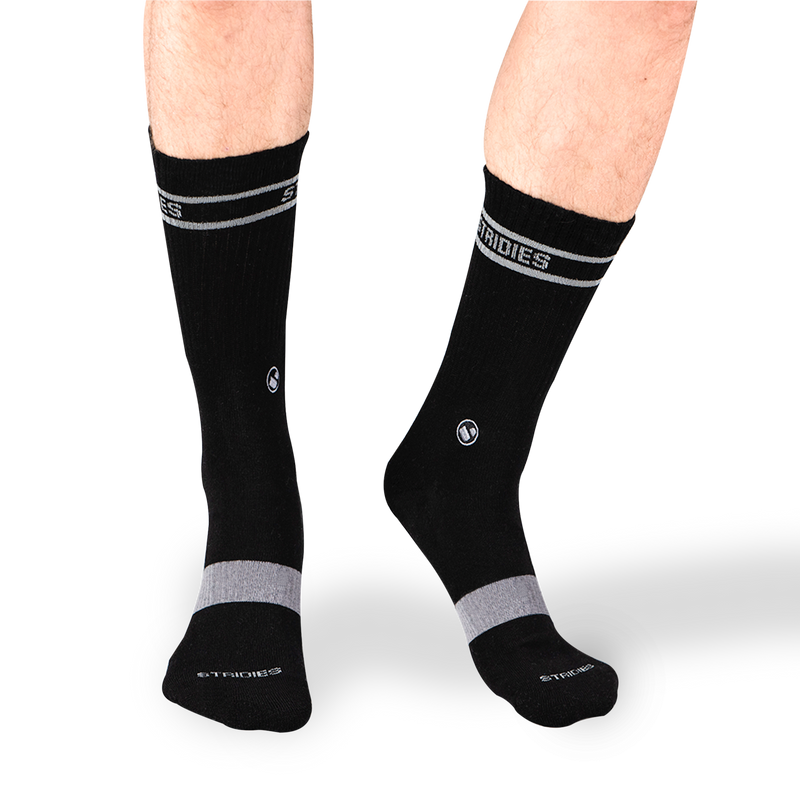 Mens Black Soft Cotton Crew Sock 4 Multipack
