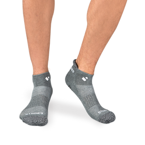 Mens Grey Pilates Ankle Socks