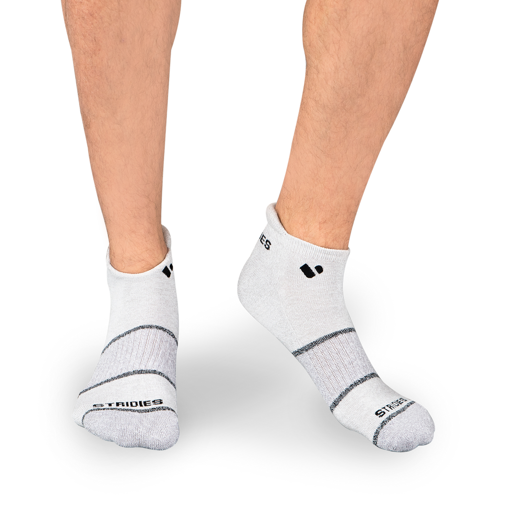 Mens Light Grey Active Ankle Sock