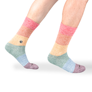 Mens LGBT Twist Calf Sock