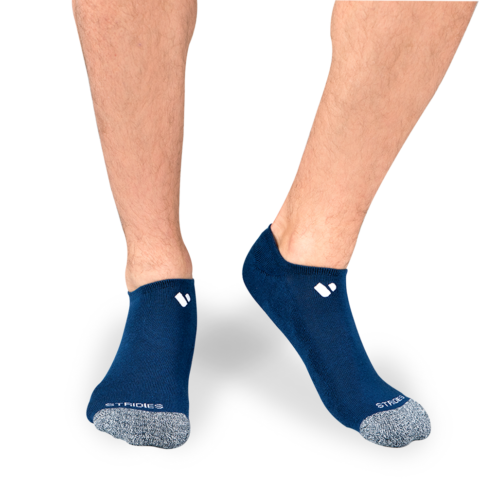 Mens Navy No Show Socks