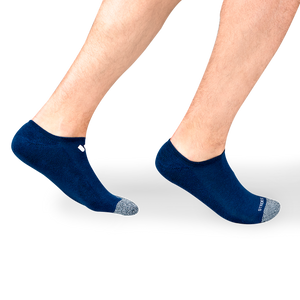 Mens Navy No Show Socks 4 Multipack