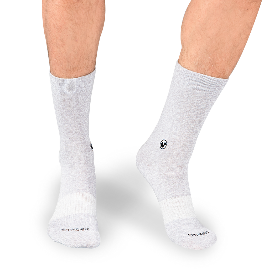 Mens Solid Grey Calf Sock