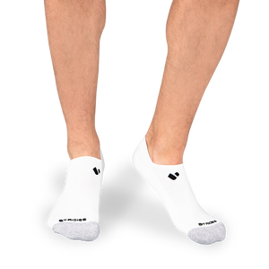 Mens White No Show Socks 4 Multipack