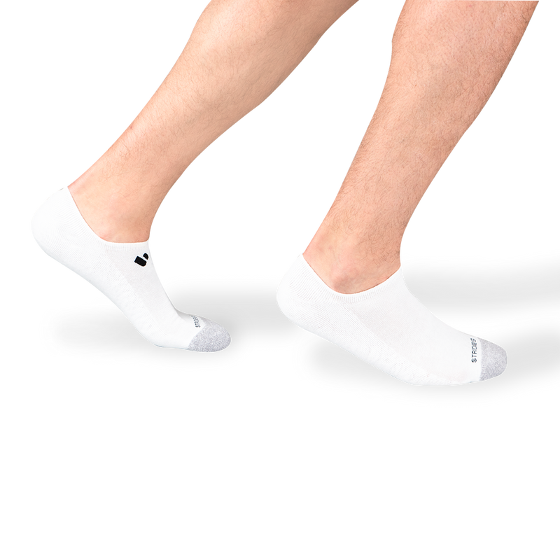 Mens White No Show Socks