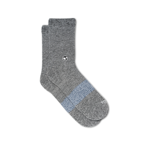 Mens Solid Blacks Calf Sock