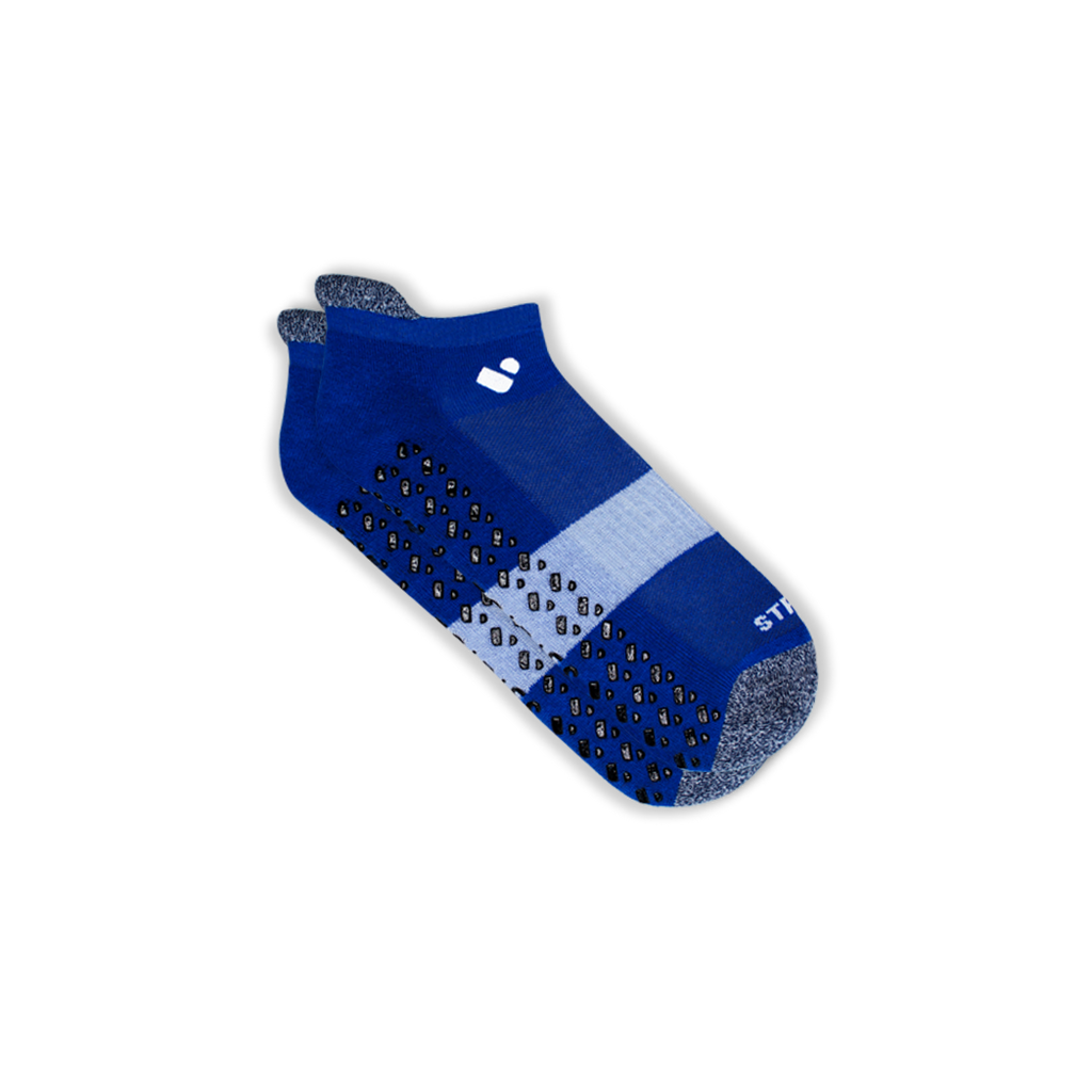 Mens Blue Pilates Ankle Socks