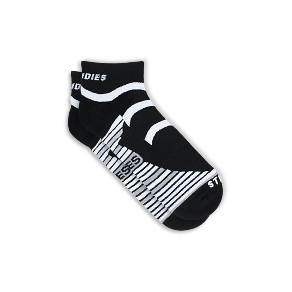 Womens Black Running Socks