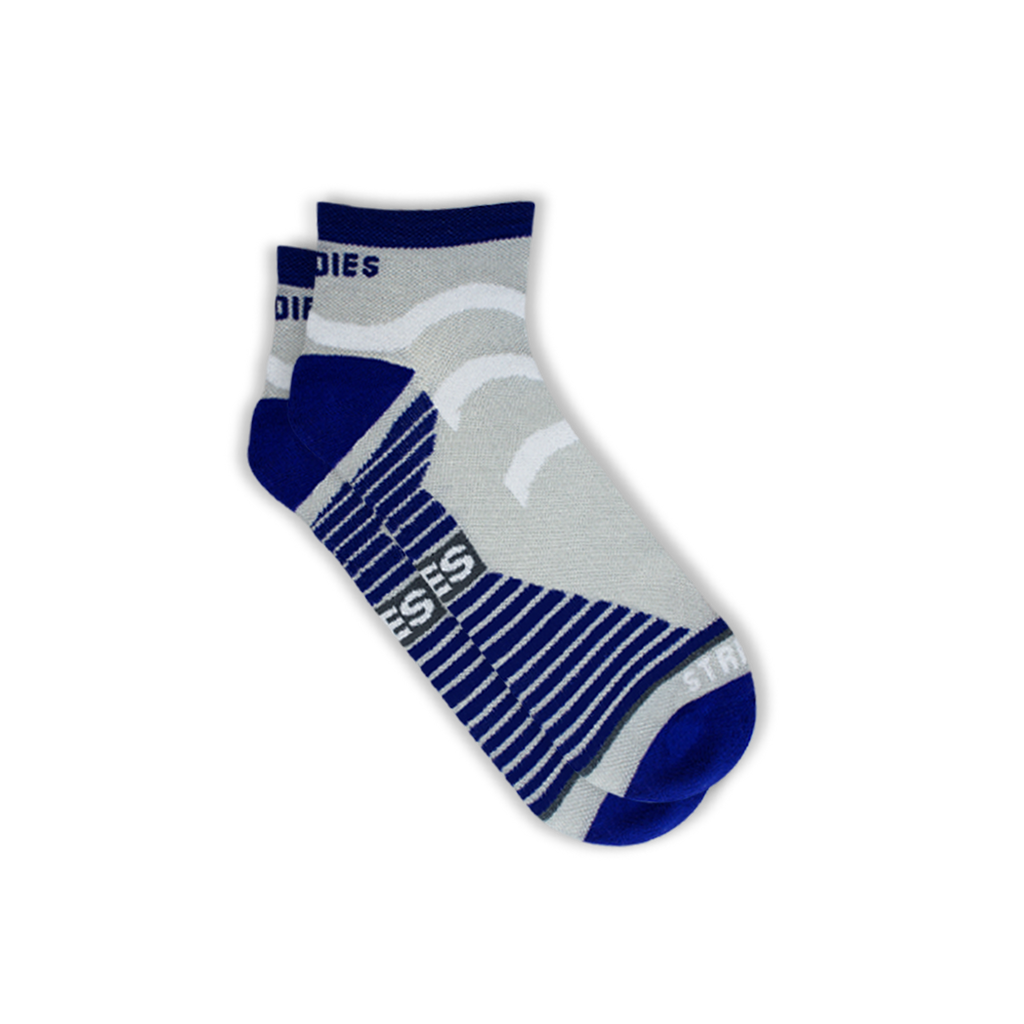 Mens Grey Running Socks