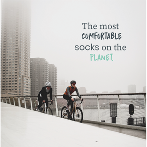 Womens Black Cycling Socks