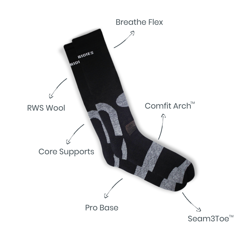 Mens Black Hiking Socks