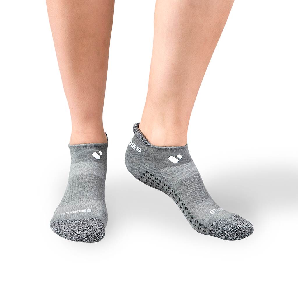 Womens Grey Pilates Ankle Socks 4 Multipack