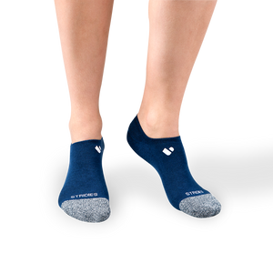 Womens Navy No Show Socks