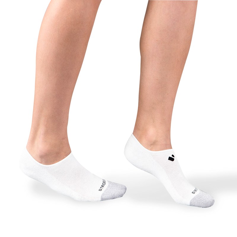 Womens White No Show Socks
