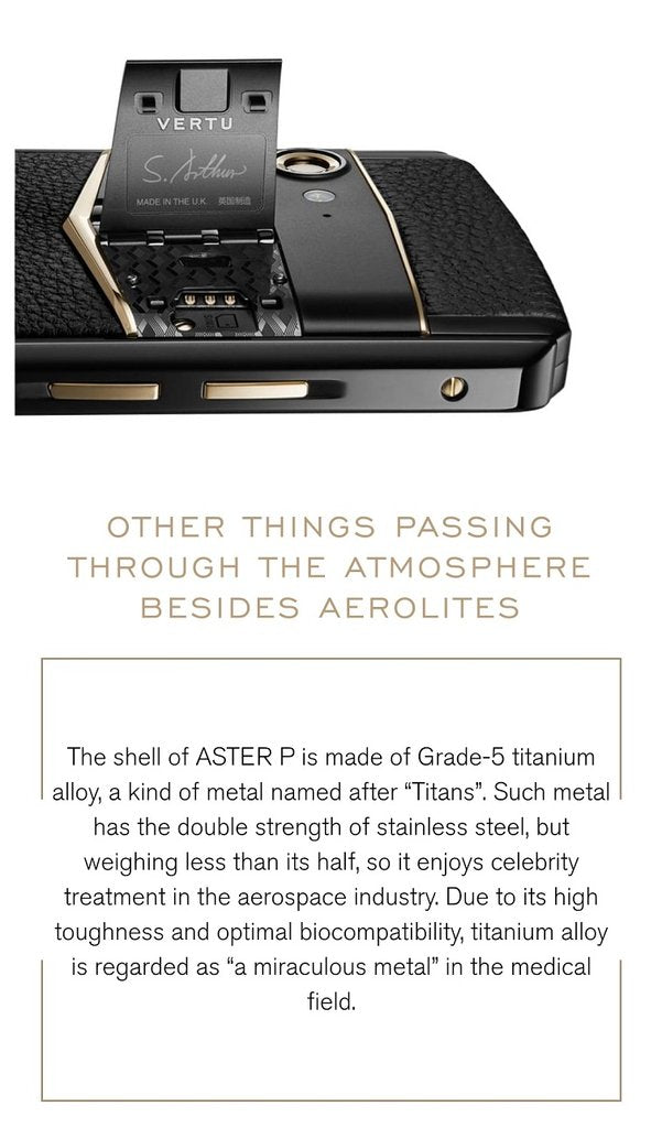 Vertu Aster P Hardware Specification