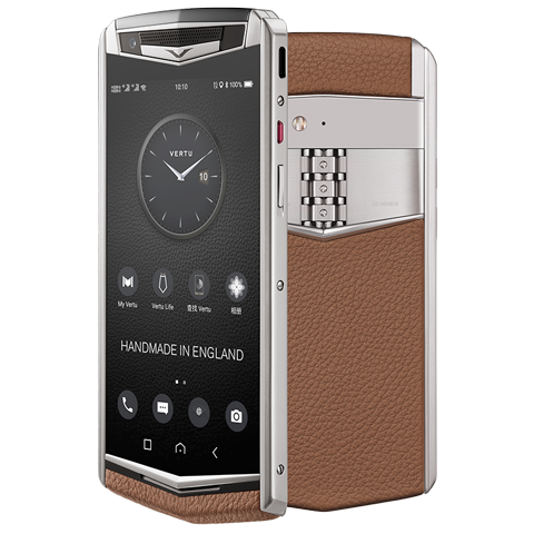 Vertu Aster P Caramel Brown Mobile Phone