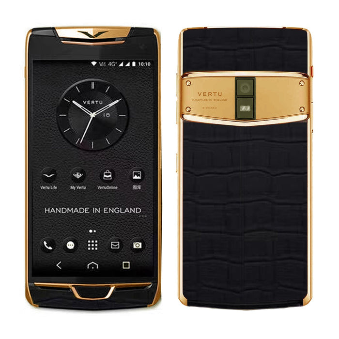 Vertu Constellation Black Alligator Gold