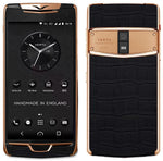Vertu Constellation X Black alligator Rose Gold Mobile