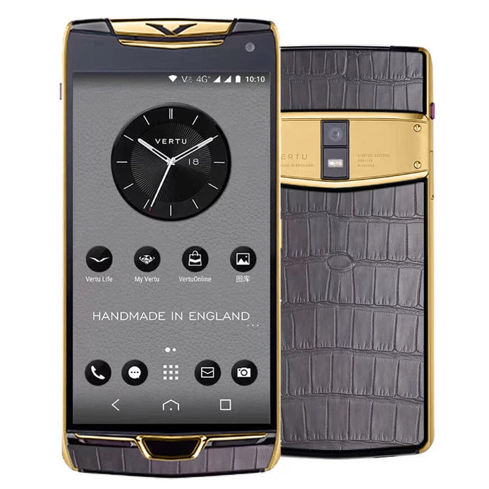 Vertu Constellation X Grey Alligator Gold Mobile