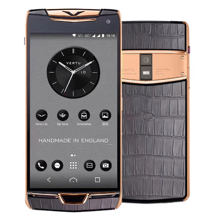 Vertu Constellation X Grey Alligator Rose Gold