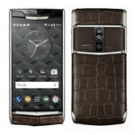 Vertu Signature Touch Cocoa Brown Alligator Mobile