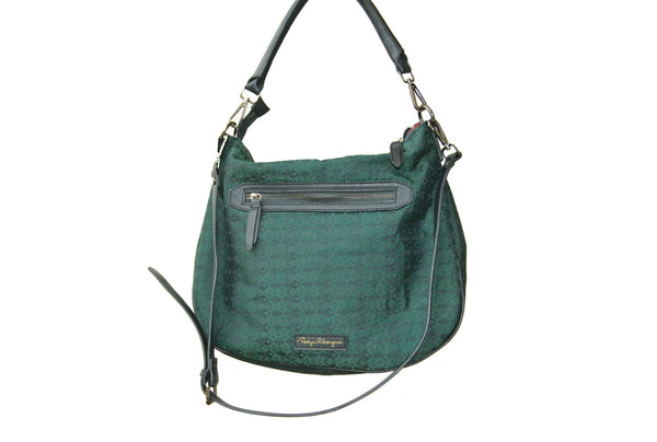 Ladies Handbag with genuine leather trims