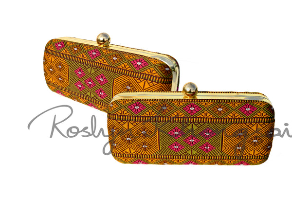 Handmade Boxy Clutch with traditional touch