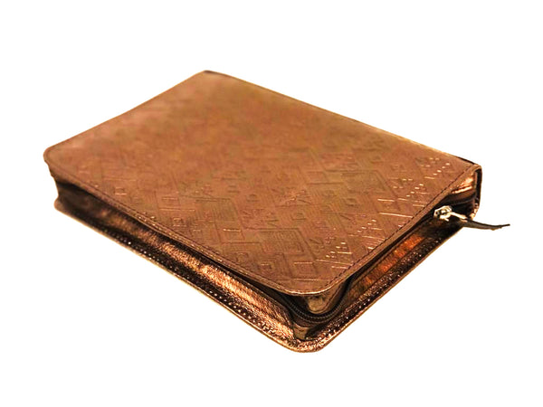 LEATHER EMBOSSED BIBLE COVER