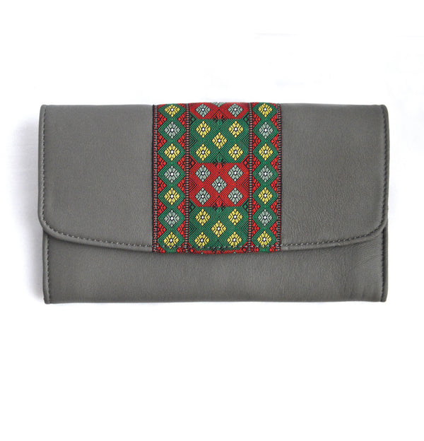 "Ladies purse with Kuki Traditional ""Numei Saipikhup"" patched"