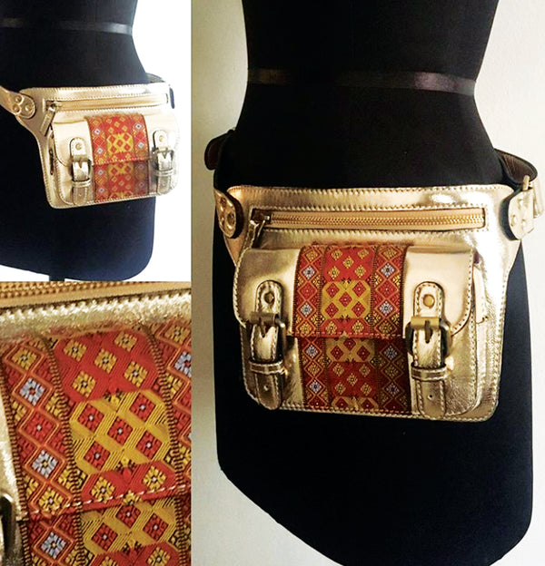 Bright Metallic Gold Fanny Pouch