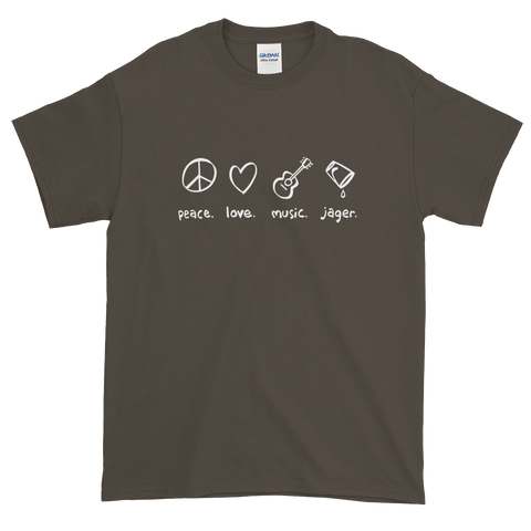 Peace Love Music Jager T-Shirt