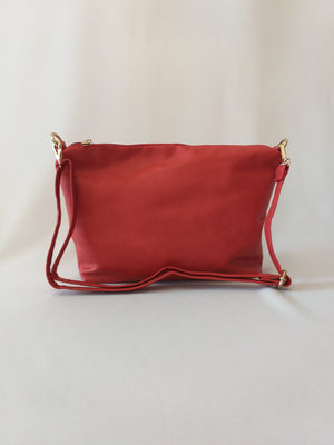 Red twin multipurpose handbag