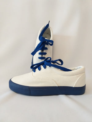 Canvass Sneakers - White/Blue