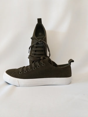 Suede Sneakers  - Olive