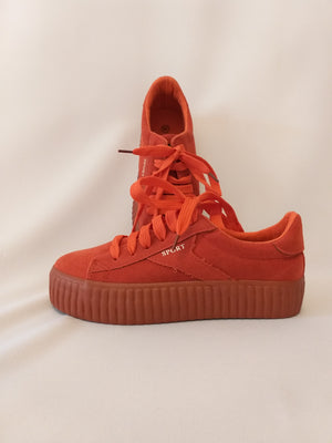 Suede platform Sneakers - Orange Red
