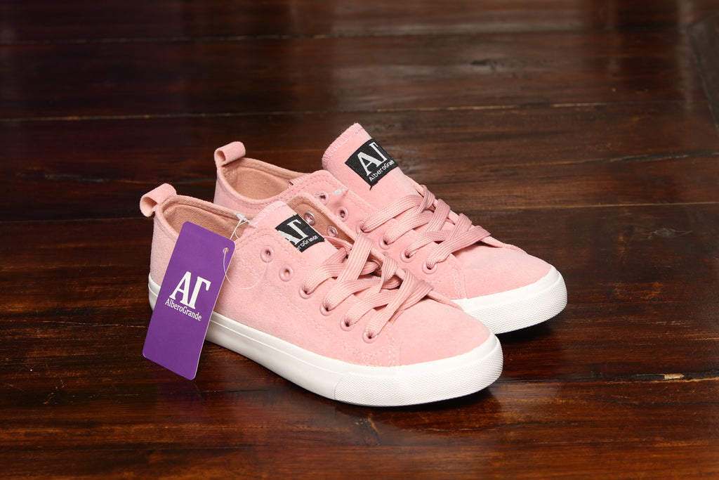 Suede Sneakers  - Mauve
