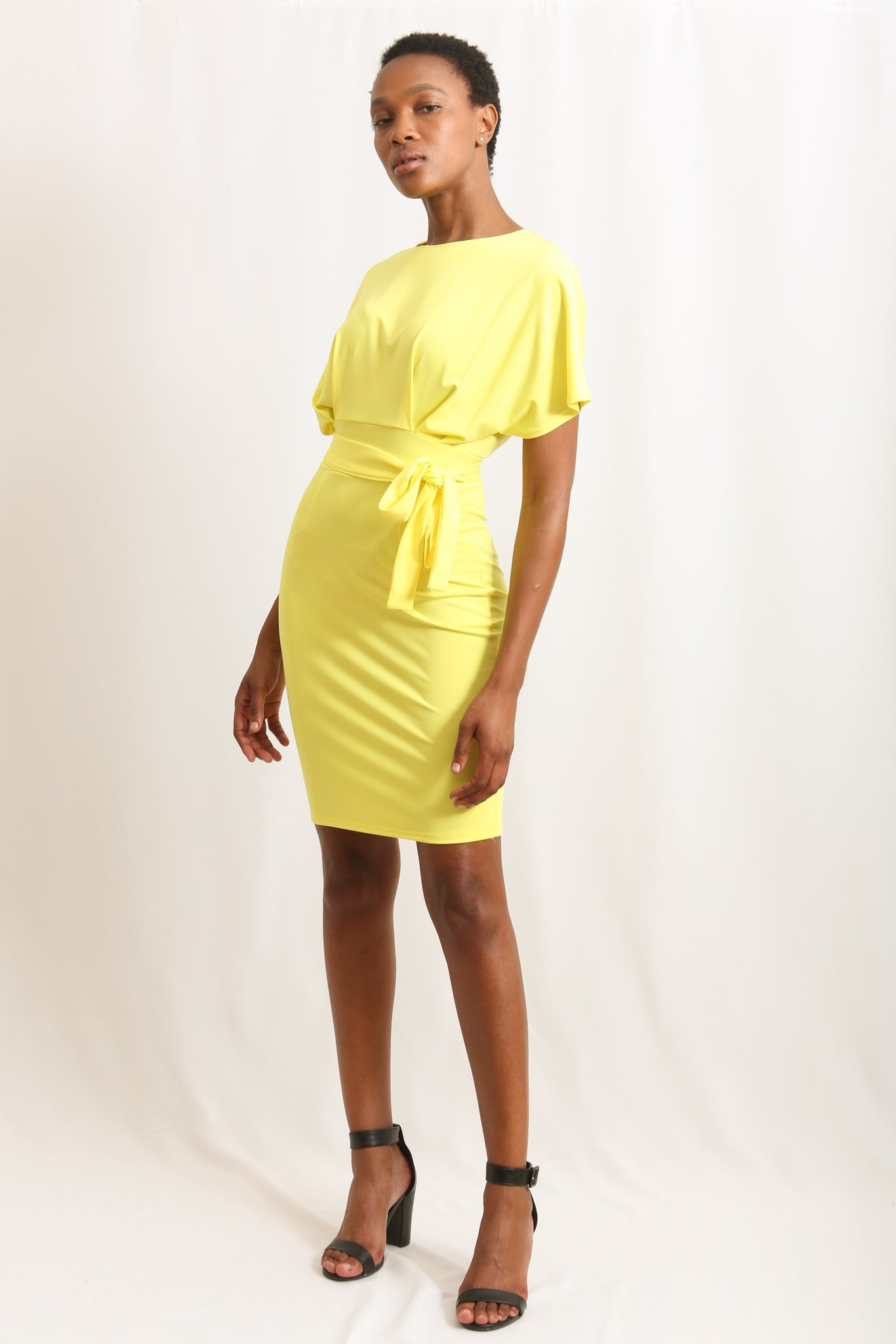 O Neck Dress - Yellow