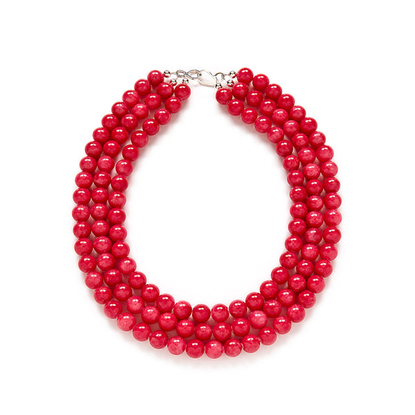 Chunky Dark Pink Necklace