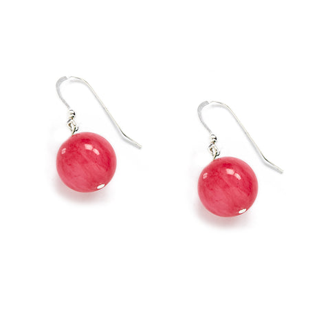 Raspberry Jade Earrings