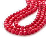 Raspberry Jade Statement Necklace