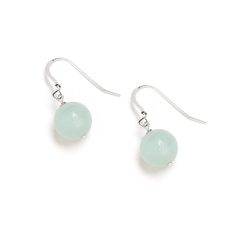 Pastel Turquoise Earrings in Amazonite and Silver