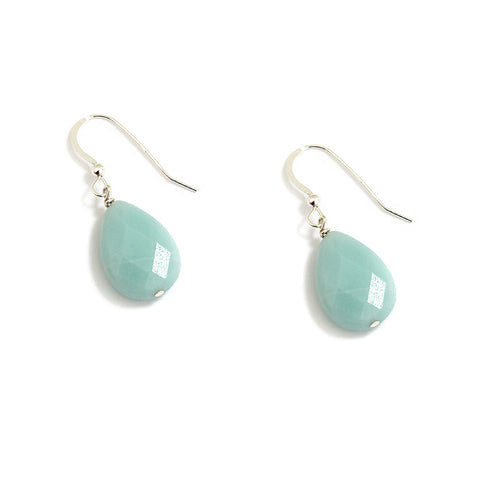 Pastel Mint Blue Sterling Silver Earrings at Kluster Shop