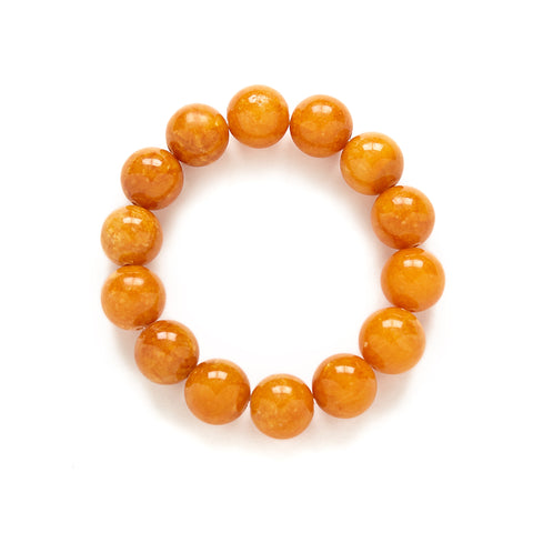 Butterscotch Orange Jade Bracelet at Kluster Shop