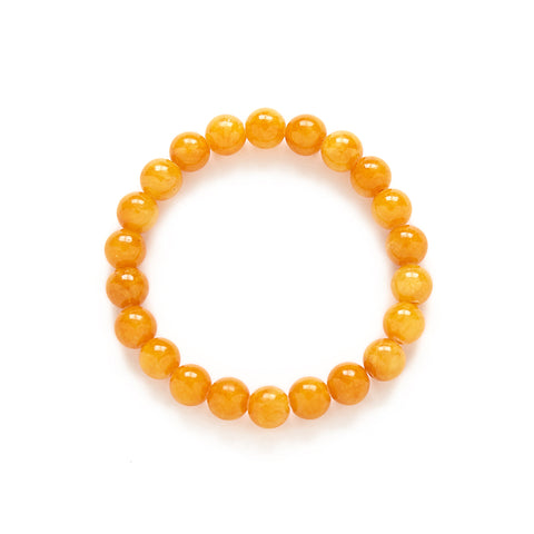 Petite Butterscotch Bracelet in Amber Jade