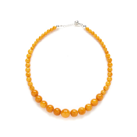 Petite Butterscotch Necklace in Amber Jade
