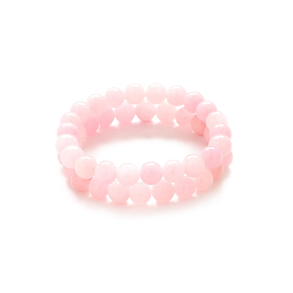 Petite Cotton Candy Bracelet in Pink Jade
